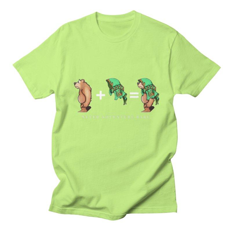 Green Bear Men's Regular T-Shirt by Norman Wilkerson Designs