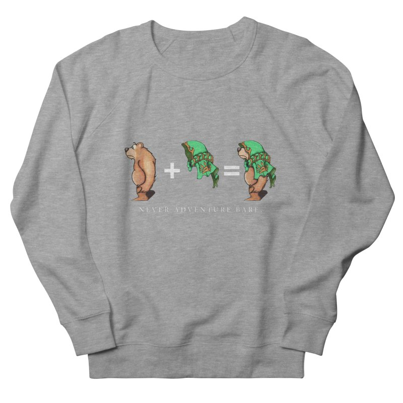 Green Bear Women's French Terry Sweatshirt by Norman Wilkerson Designs