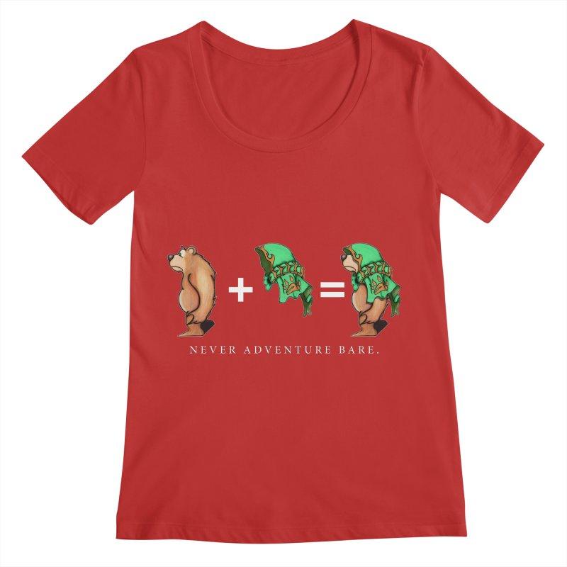 Green Bear Women's Regular Scoop Neck by Norman Wilkerson Designs