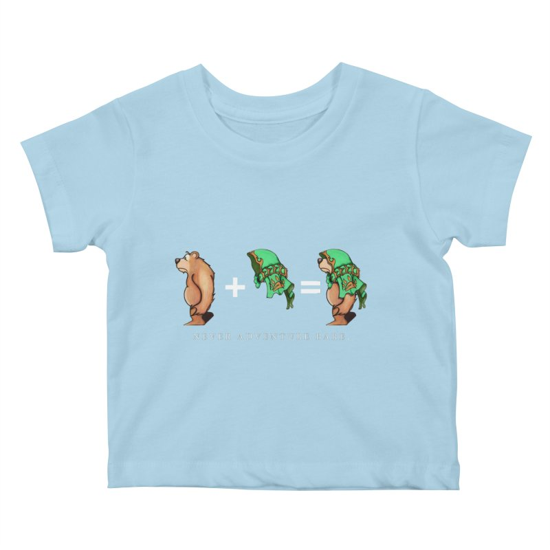 Green Bear Kids Baby T-Shirt by Norman Wilkerson Designs