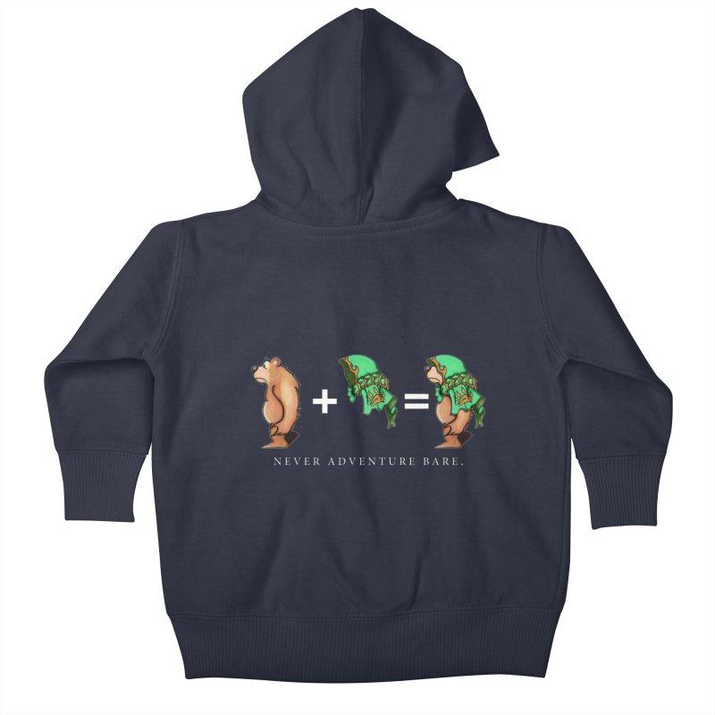 Green Bear Kids Baby Zip-Up Hoody by Norman Wilkerson Designs