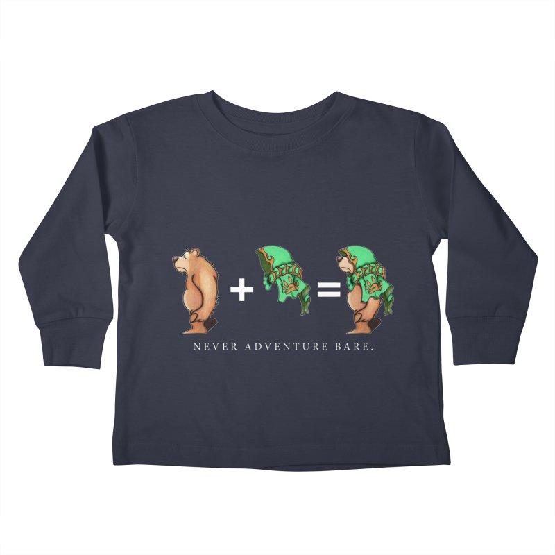 Green Bear Kids Toddler Longsleeve T-Shirt by Norman Wilkerson Designs