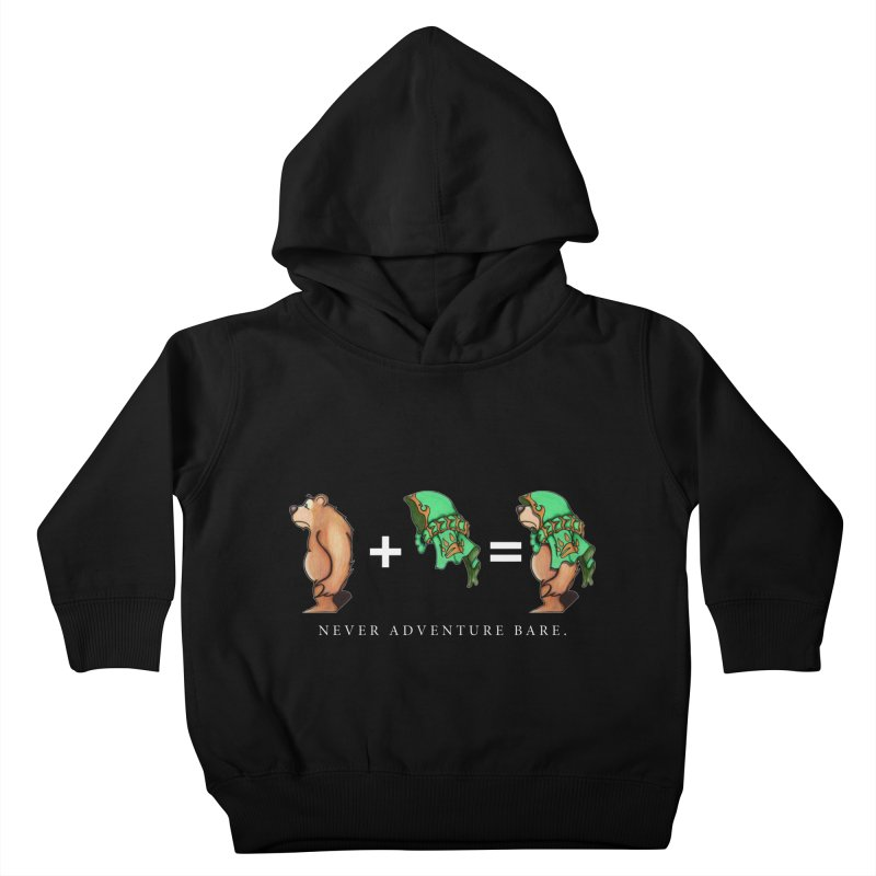 Green Bear Kids Toddler Pullover Hoody by Norman Wilkerson Designs