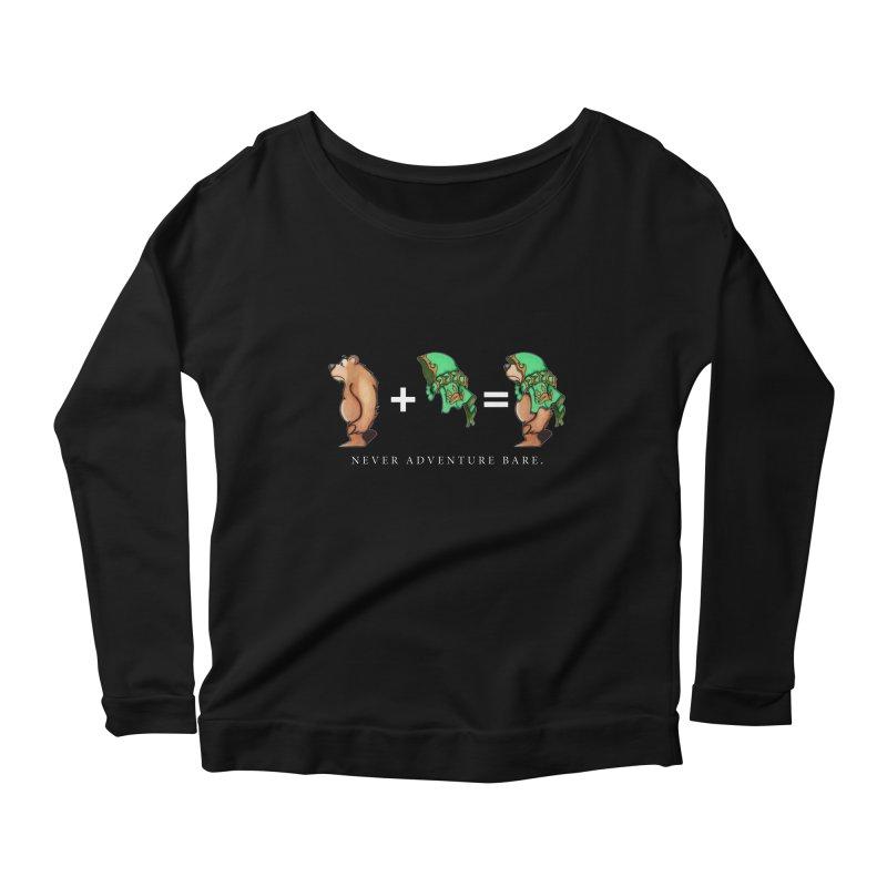 Green Bear Women's Scoop Neck Longsleeve T-Shirt by Norman Wilkerson Designs