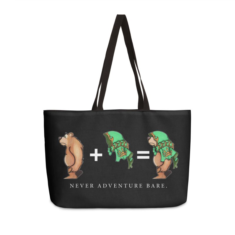 Green Bear Accessories Weekender Bag Bag by Norman Wilkerson Designs