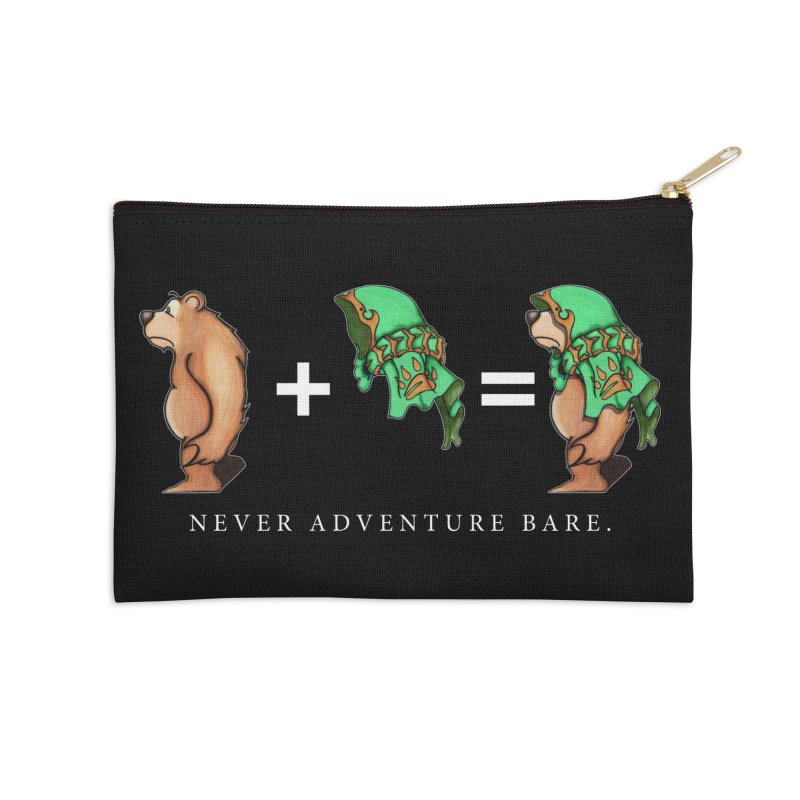 Green Bear Accessories Zip Pouch by Norman Wilkerson Designs