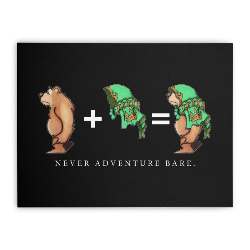 Green Bear Home Stretched Canvas by Norman Wilkerson Designs