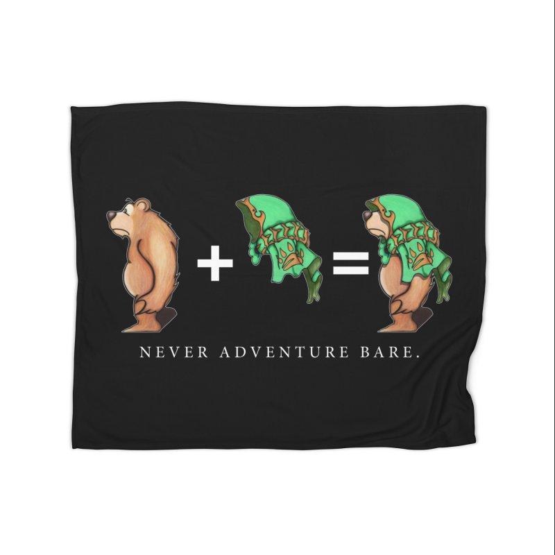 Green Bear Home Fleece Blanket Blanket by Norman Wilkerson Designs