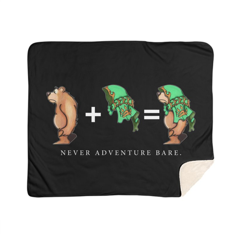 Green Bear Home Blanket by Norman Wilkerson Designs