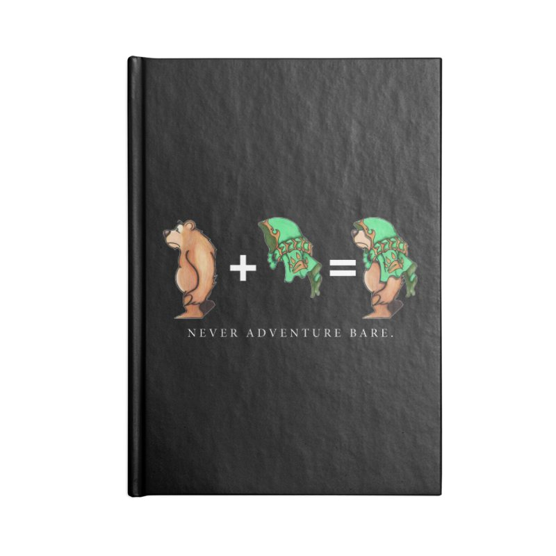 Green Bear Accessories Blank Journal Notebook by Norman Wilkerson Designs