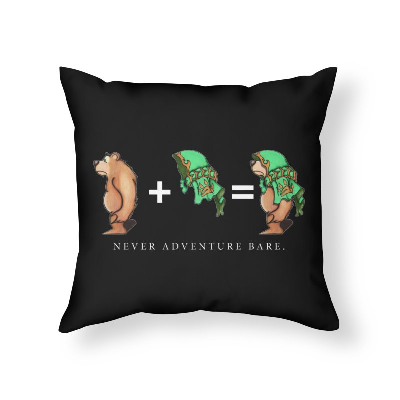 Green Bear Home Throw Pillow by Norman Wilkerson Designs
