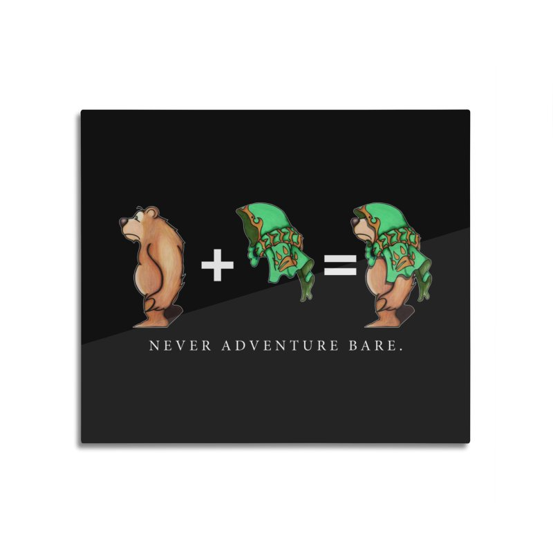 Green Bear Home Mounted Aluminum Print by Norman Wilkerson Designs