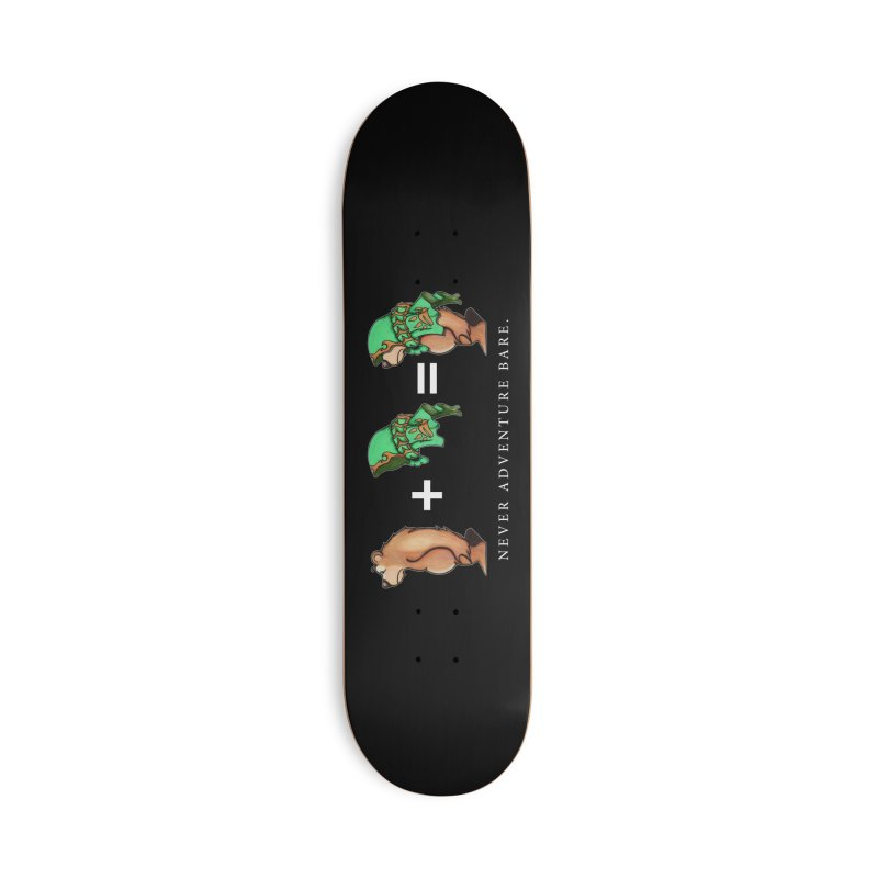Green Bear Accessories Deck Only Skateboard by Norman Wilkerson Designs