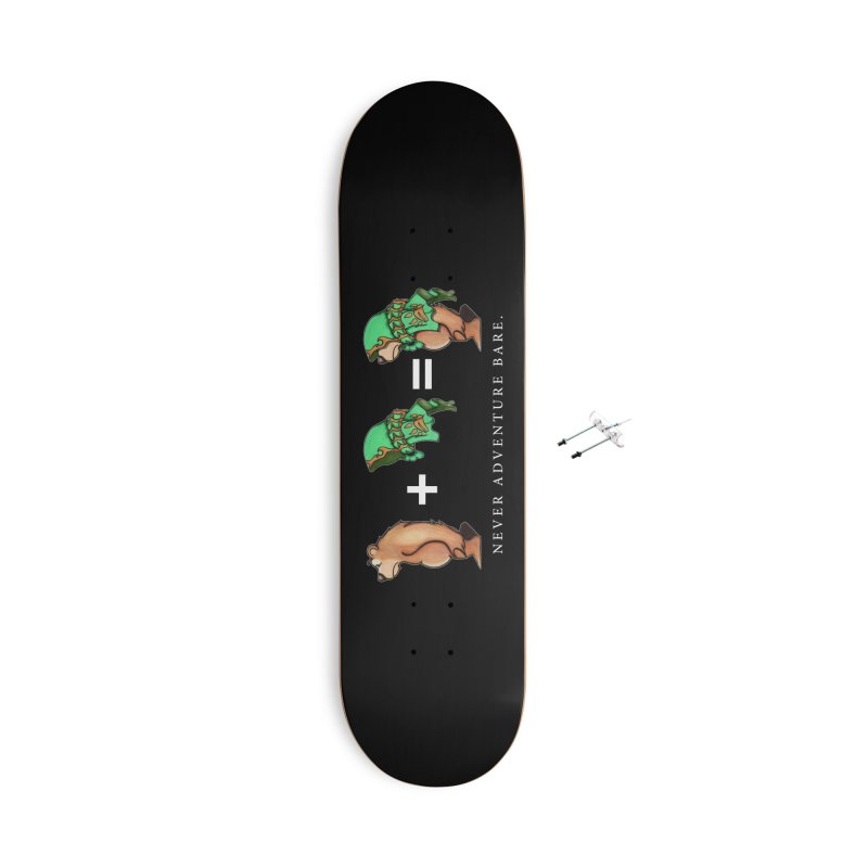 Green Bear Accessories With Hanging Hardware Skateboard by Norman Wilkerson Designs