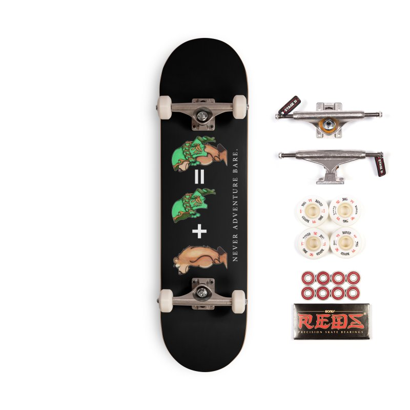 Green Bear Accessories Skateboard by Norman Wilkerson Designs