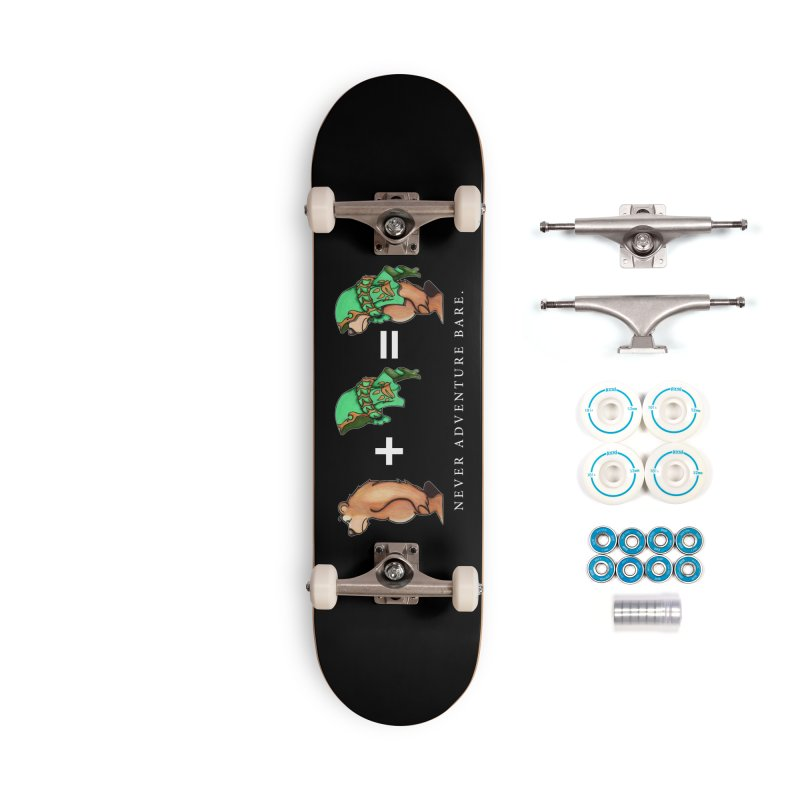 Green Bear Accessories Complete - Basic Skateboard by Norman Wilkerson Designs