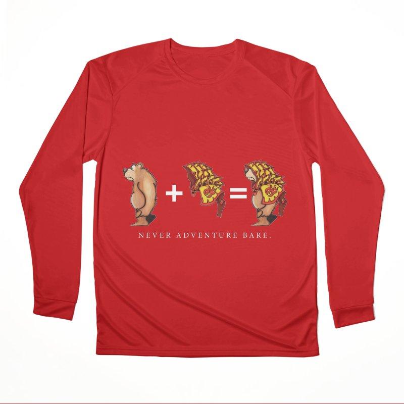 Red Bear Women's Performance Unisex Longsleeve T-Shirt by Norman Wilkerson Designs