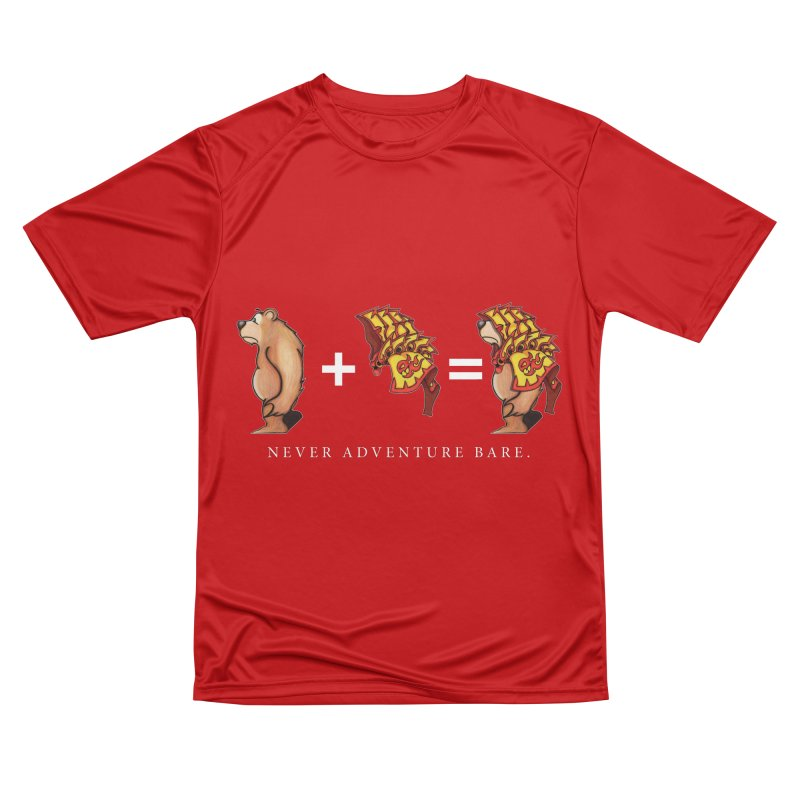 Red Bear Men's Performance T-Shirt by Norman Wilkerson Designs