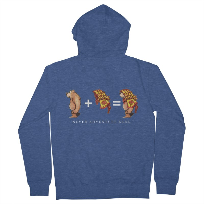Red Bear Men's French Terry Zip-Up Hoody by Norman Wilkerson Designs