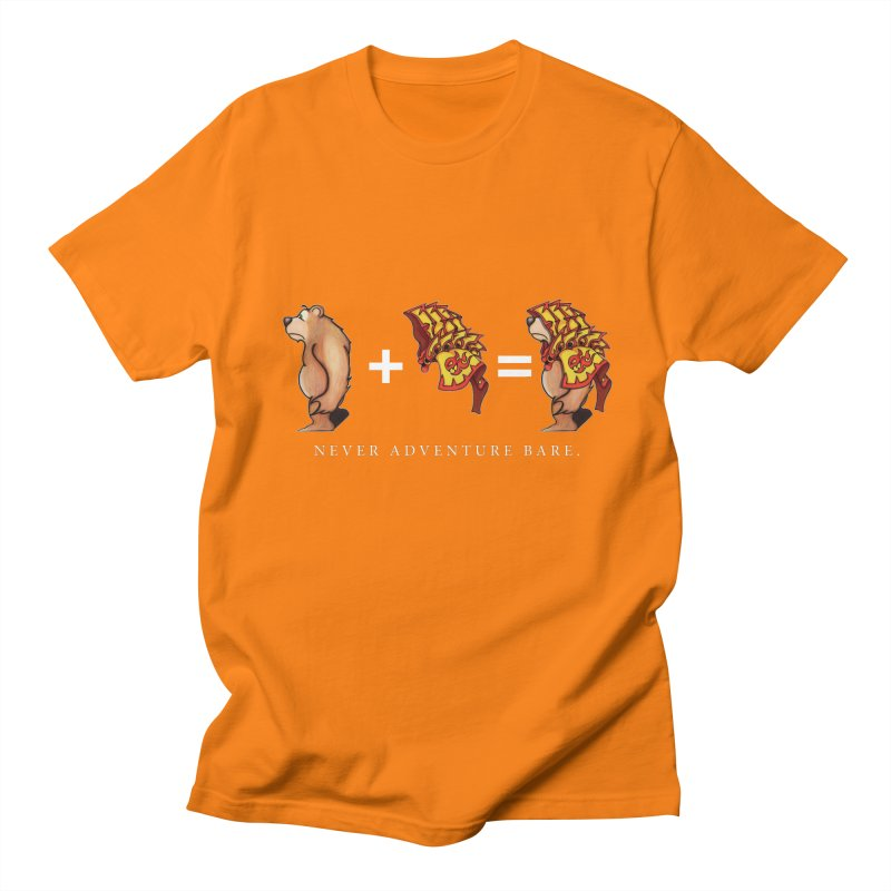 Red Bear Men's Regular T-Shirt by Norman Wilkerson Designs