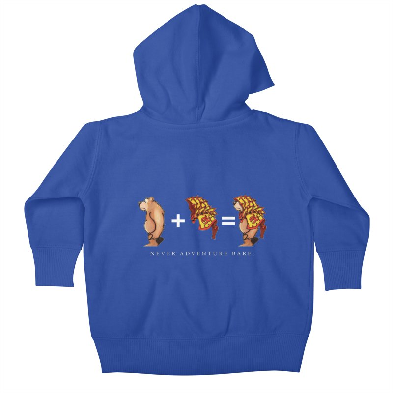 Red Bear Kids Baby Zip-Up Hoody by Norman Wilkerson Designs