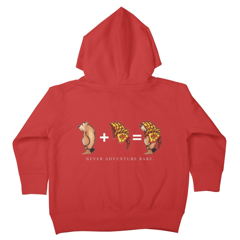 Red Bear Kids Toddler Zip-Up Hoody by Norman Wilkerson Designs