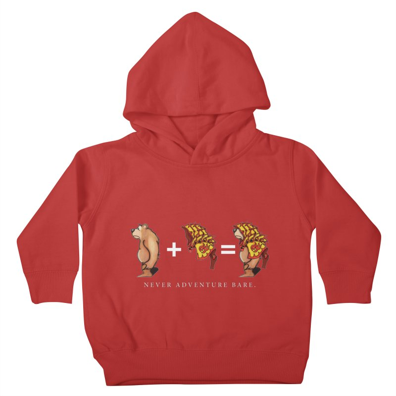 Red Bear Kids Toddler Pullover Hoody by Norman Wilkerson Designs