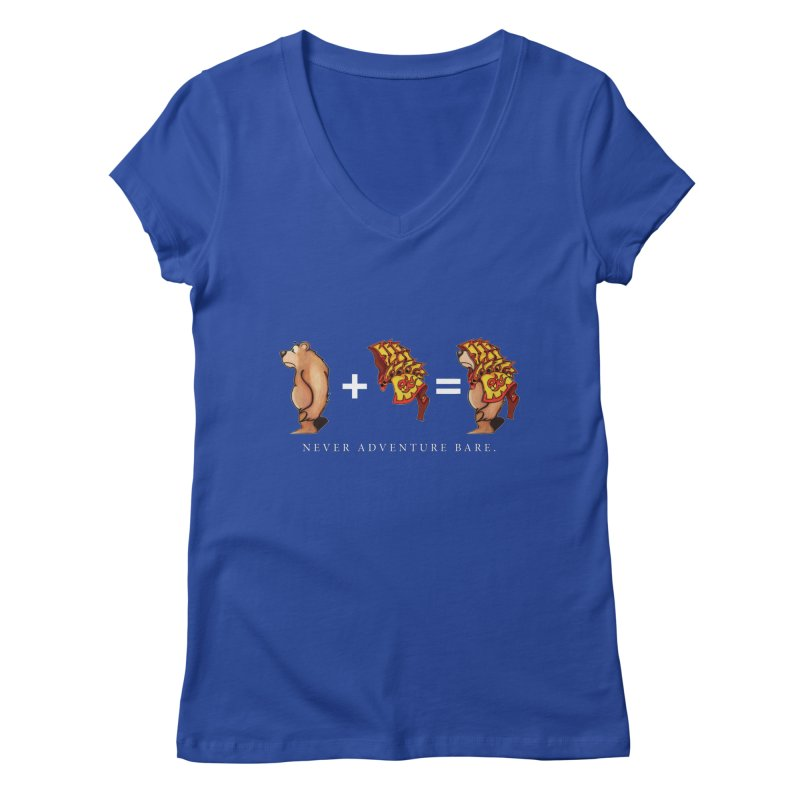 Red Bear Women's Regular V-Neck by Norman Wilkerson Designs