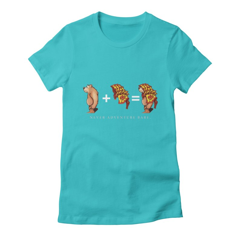 Red Bear Women's Fitted T-Shirt by Norman Wilkerson Designs