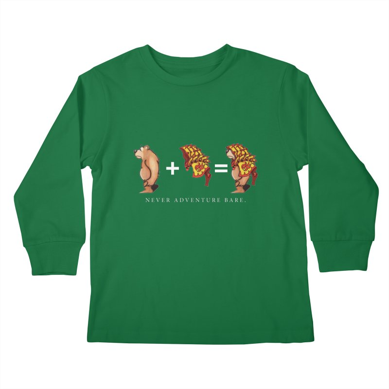 Red Bear Kids Longsleeve T-Shirt by Norman Wilkerson Designs