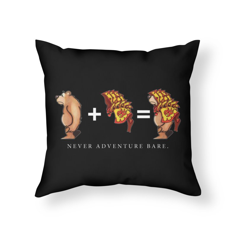 Red Bear Home Throw Pillow by Norman Wilkerson Designs