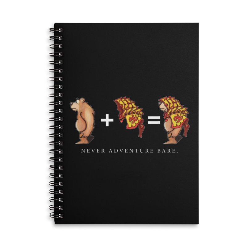 Red Bear Accessories Lined Spiral Notebook by Norman Wilkerson Designs