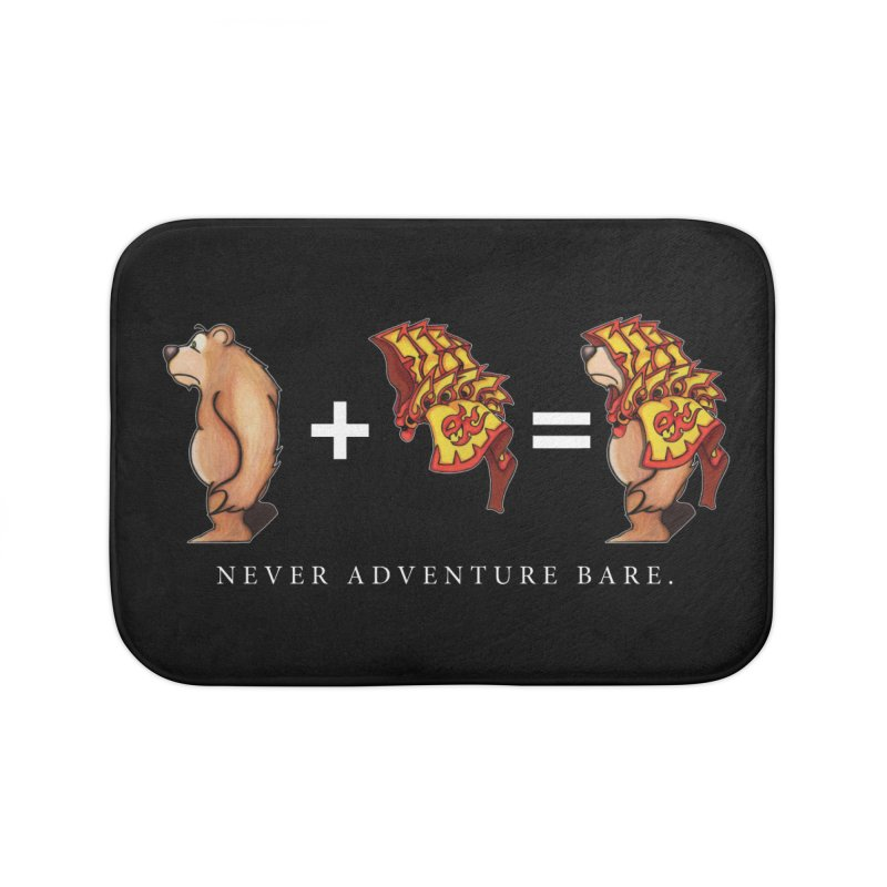 Red Bear Home Bath Mat by Norman Wilkerson Designs