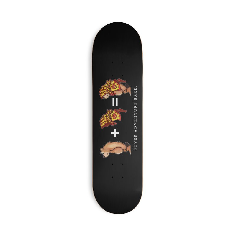 Red Bear Accessories Deck Only Skateboard by Norman Wilkerson Designs