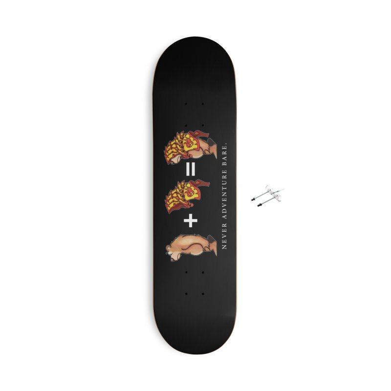 Red Bear Accessories With Hanging Hardware Skateboard by Norman Wilkerson Designs
