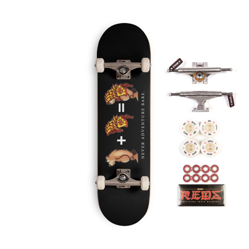 Red Bear Accessories Complete - Pro Skateboard by Norman Wilkerson Designs
