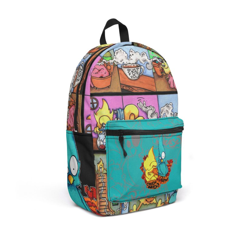 Cheese Weasel & Pepper Accessories Backpack Bag by Norman Wilkerson Designs