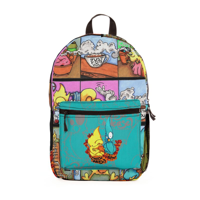 Cheese Weasel & Pepper Accessories Bag by Norman Wilkerson Designs