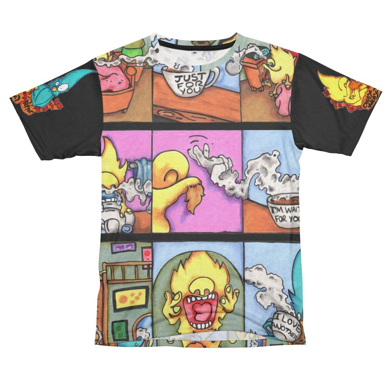 Cheese Weasel & Pepper Women's Unisex French Terry T-Shirt Cut & Sew by Norman Wilkerson Designs