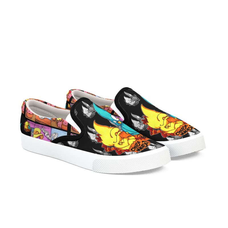 Cheese Weasel & Pepper Women's Slip-On Shoes by Norman Wilkerson Designs