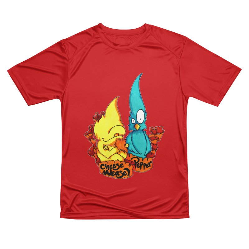 Cheese Weasel & Pepper Men's Performance T-Shirt by Norman Wilkerson Designs