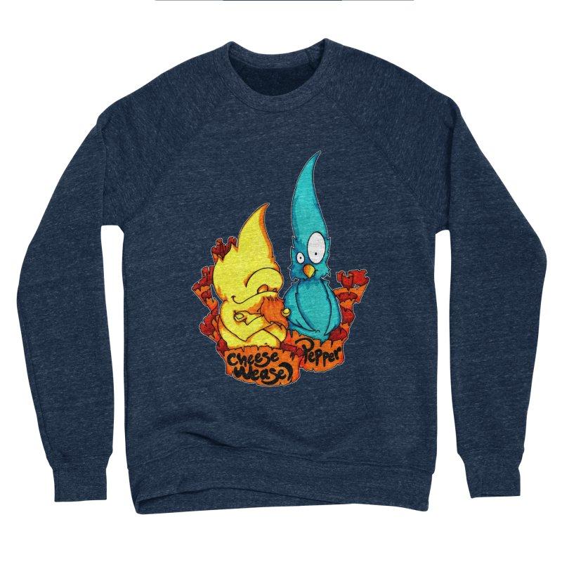 Cheese Weasel & Pepper Women's Sponge Fleece Sweatshirt by Norman Wilkerson Designs