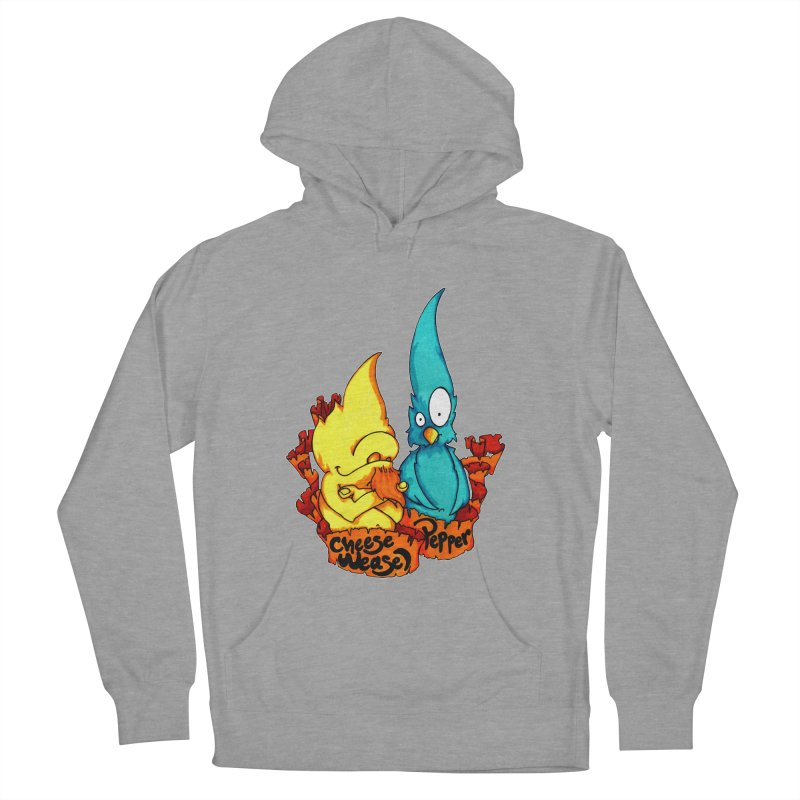 Cheese Weasel & Pepper Women's Pullover Hoody by Norman Wilkerson Designs