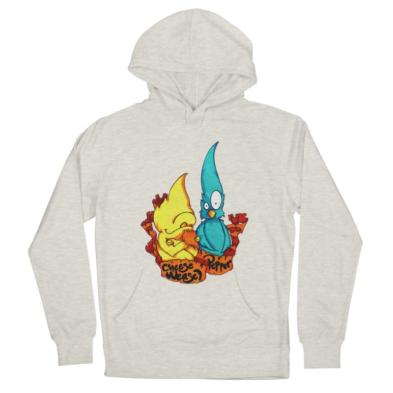Cheese Weasel & Pepper Men's French Terry Pullover Hoody by Norman Wilkerson Designs