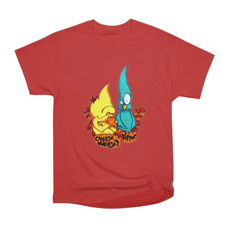 Cheese Weasel & Pepper Men's Heavyweight T-Shirt by Norman Wilkerson Designs