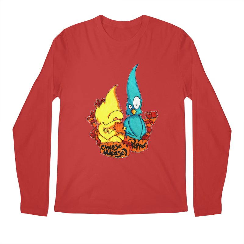 Cheese Weasel & Pepper Men's Regular Longsleeve T-Shirt by Norman Wilkerson Designs