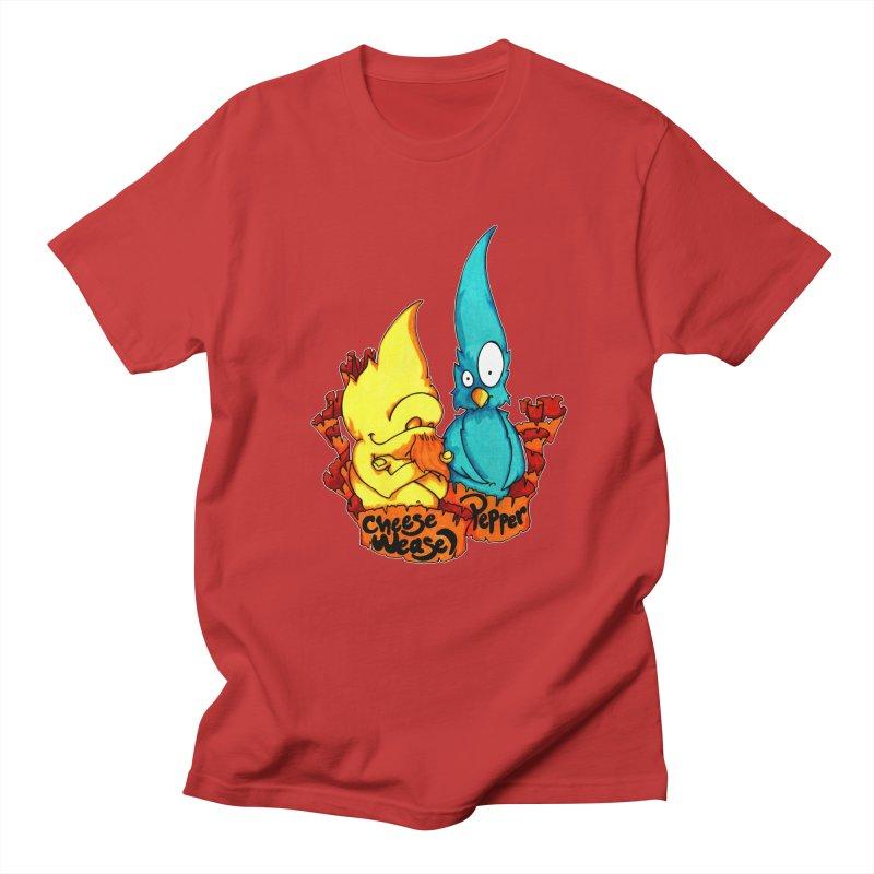 Cheese Weasel & Pepper Men's Regular T-Shirt by Norman Wilkerson Designs
