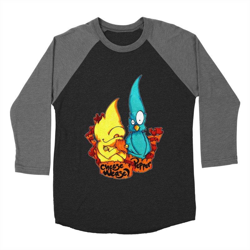 Cheese Weasel & Pepper Women's Baseball Triblend Longsleeve T-Shirt by Norman Wilkerson Designs