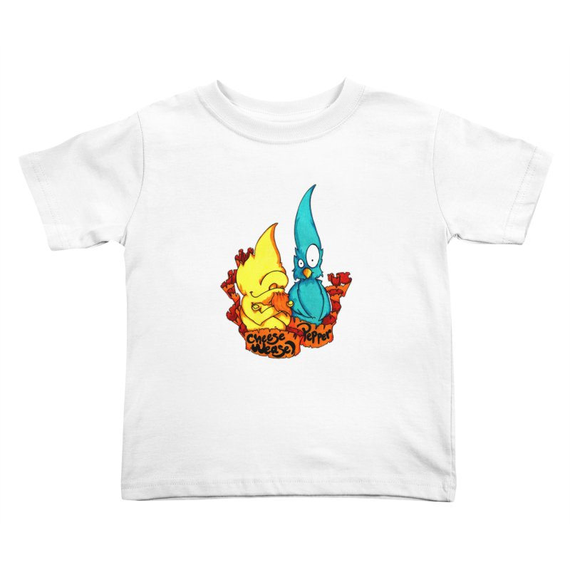 Cheese Weasel & Pepper Kids Toddler T-Shirt by Norman Wilkerson Designs