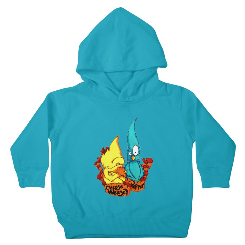 Cheese Weasel & Pepper Kids Toddler Pullover Hoody by Norman Wilkerson Designs